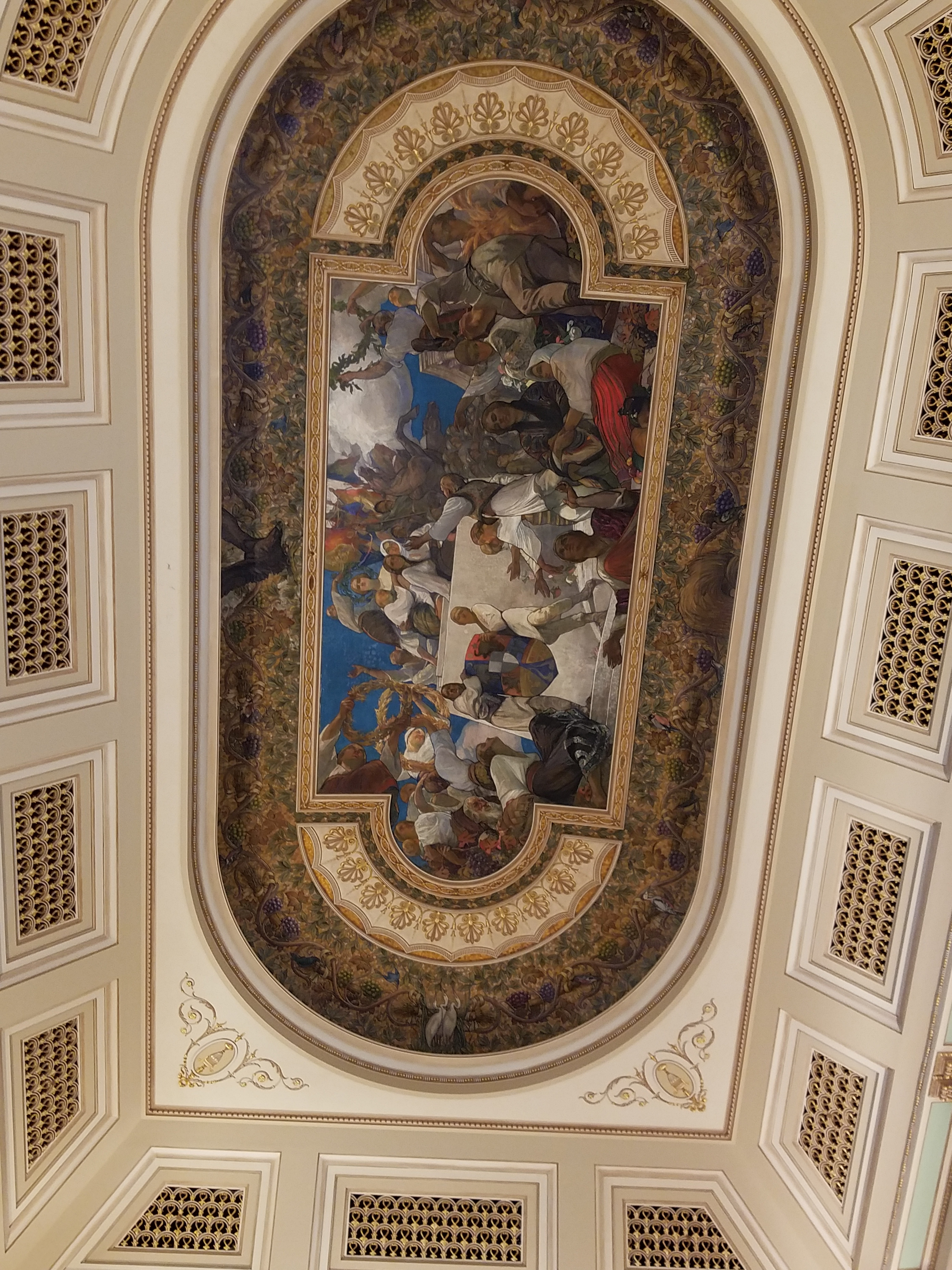 royal palace ceiling bucharest