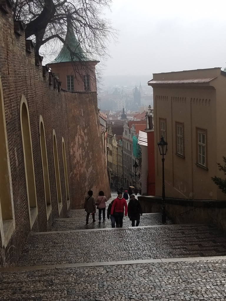 steps to prague castle
