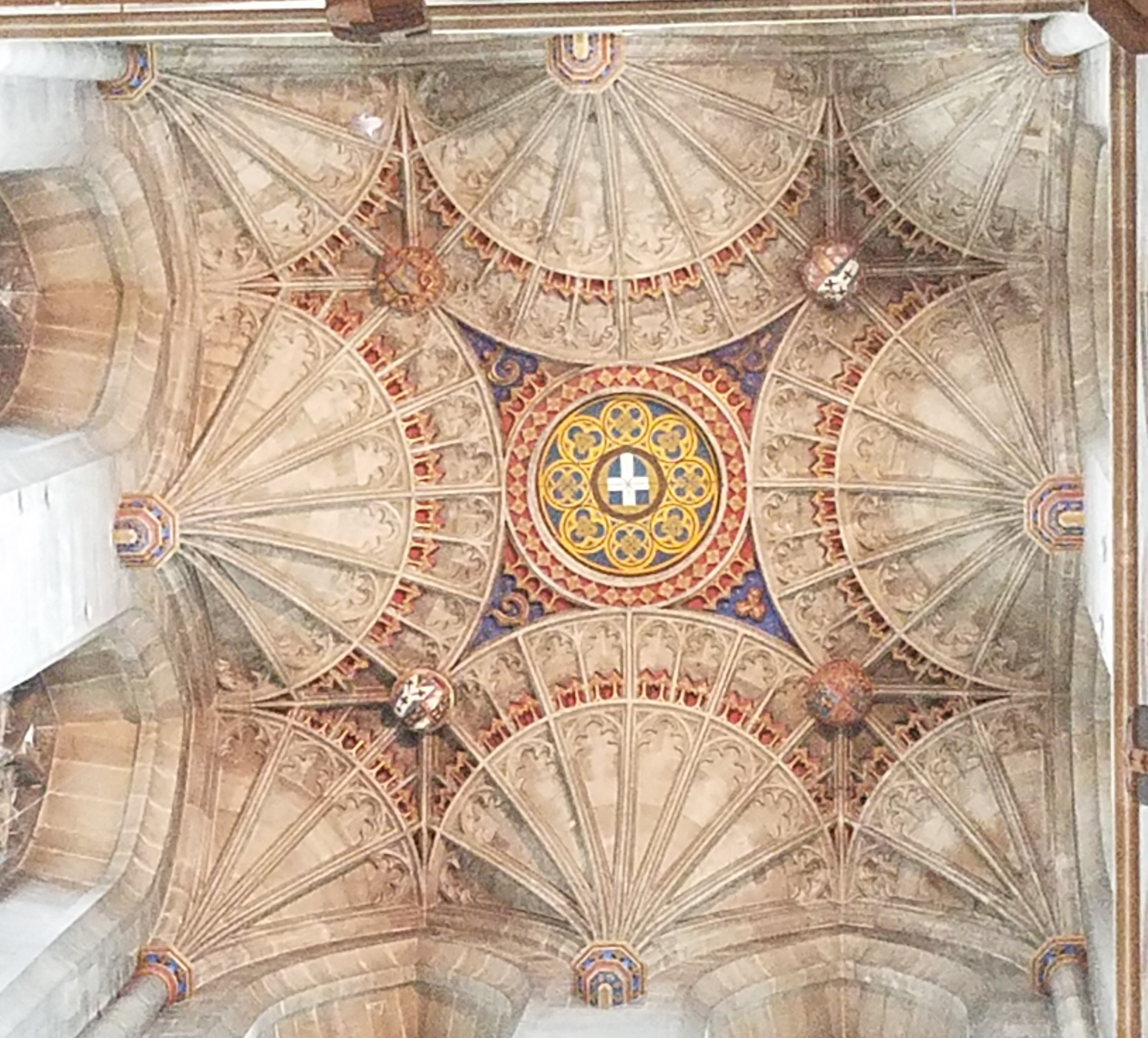 fan ceiling canterbury cathedral
