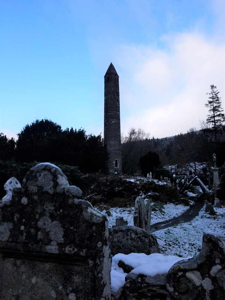 glendalough round tower ireland