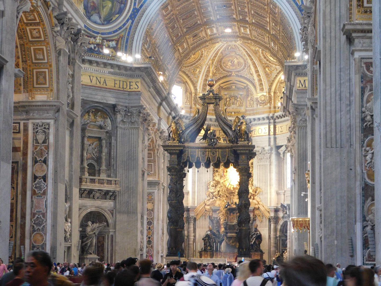 bernini pavilion st peters basilica
