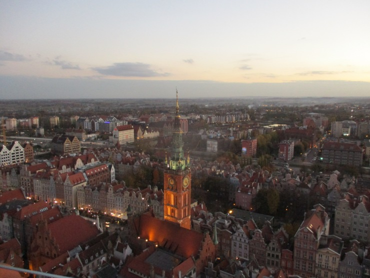 view from mariacka tower gdansk