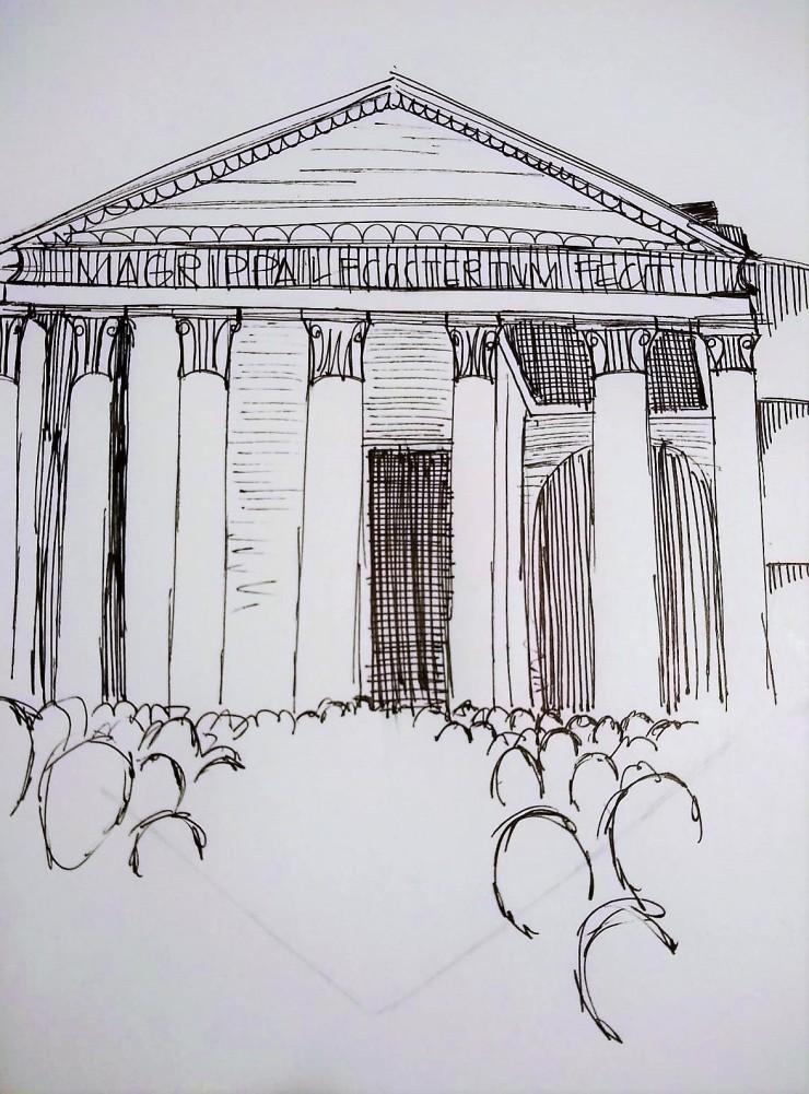 pantheon sketch