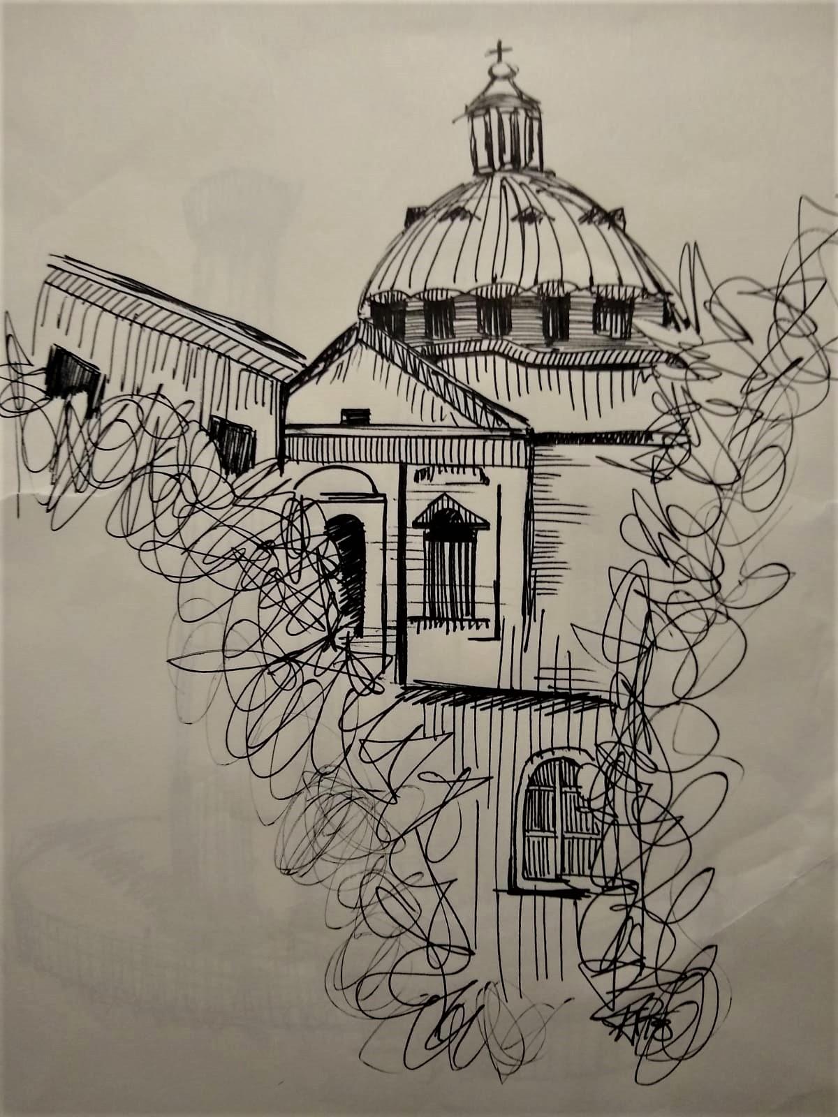 roman skyline sketch kiana poole