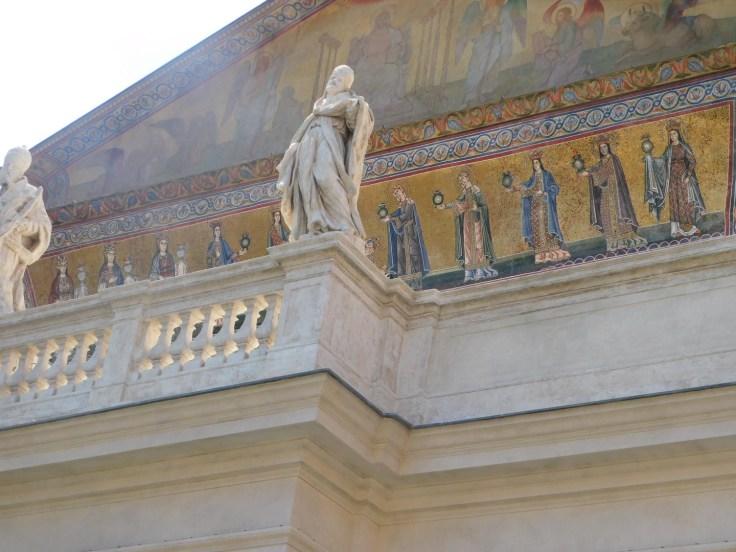 trastevere church mosaic